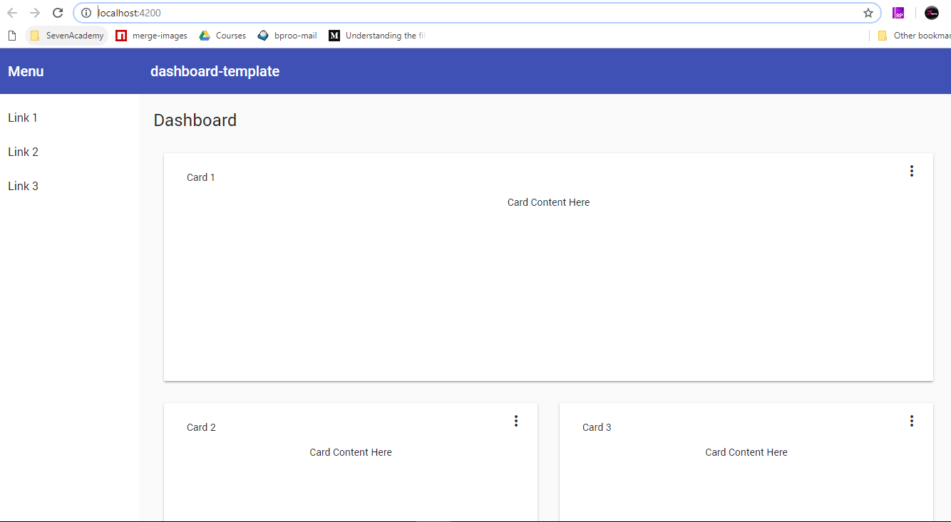 building funished ui design with angular material design